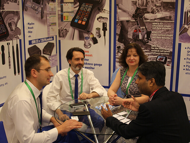 The 15th Asia Pacific Conference NDT (APCNDT) attendees are interested in the equipment produced by  OKOndt GROUP