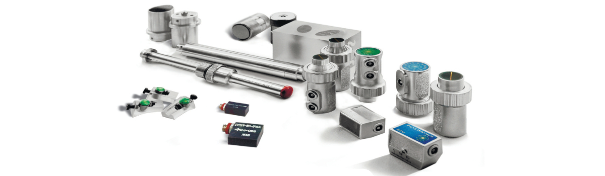 Various types of UT transducers produced by OKOndt GROUP