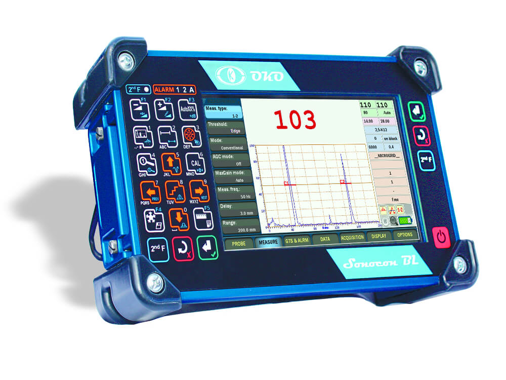 Portable ultrasonic flaw detector with a large high-resolution display Sonocon BL