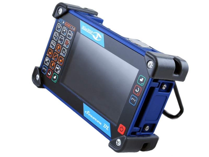 Portable ultrasonic flaw detector with a large high-resolution display Sonocon BL, off mode