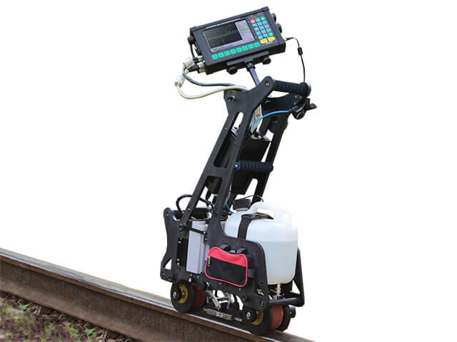 UT flaw detector intended for the inspection of one rail line UDS2-77